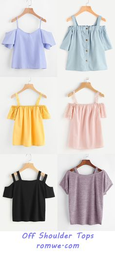Off the shoulder tops Girls Fashion Clothes, Teen Fashion Outfits, Mode Outfits, Classy Outfits, Cute Fashion, Trendy Outfits, Girl Outfits, Off Shoulder Outfits, Off Shoulder Tops