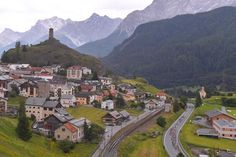 Scenery along the route of stage 7 at Tour de Suisse