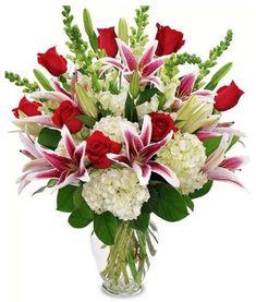 Valentine Flower Arrangements, Valentines Flowers, Beautiful Flower Arrangements, Floral Arrangements, Beautiful Flowers, Flower Arrangements For Funeral, Valentine Nails, Valentine Ideas, Church Flowers