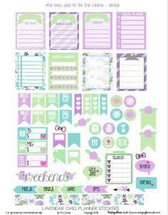 FREE Lavendar Chic Planner Stickers by Vintage Glam Studio