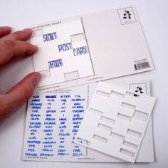 postcard coded message with decoder...pretty cool and extremely inexpensive craft