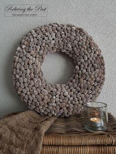 Casuarina krans grijs 48/50 cm