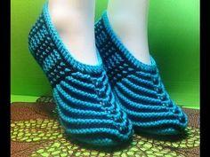 Вязание спицами домашние тапочки #104 - YouTube Knitting Socks, Baby Knitting, Crochet Baby, Knit Crochet, Crochet Shoes, Crochet Clothes, Creative Knitting, Knitted Slippers, Knitting Videos