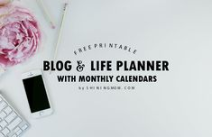 Free Printable 2018 Monthly Calendar and Planner in Florals! Blog Planner Printable, Free Planner, Free Printables, Calendar Printable, Printable Budget, 2018 Planner, Budget Planner, Happy Planner, Free Monthly Calendar