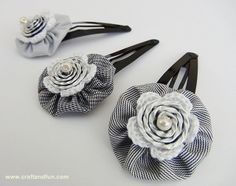 DIY Hair clips, recycling and crochet