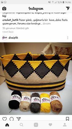 Triforce-iltalaukku pattern by Molla Mills Diy Crochet, Crochet Crafts, Crochet Projects, Diy Crafts, Tapestry Crochet Patterns, Crochet Stitches, Crochet Shawl, Crochet Purses, Crochet Bags