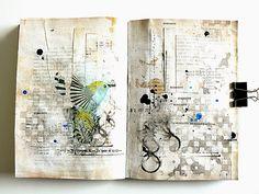 Art-Journal episode Plus Journal Themes, Art Journal Pages, Art Journals, Journal Ideas, Mixed Media Journal, Mixed Media Canvas, Mixed Media Art, Sketchbook Inspiration, Art Journal Inspiration