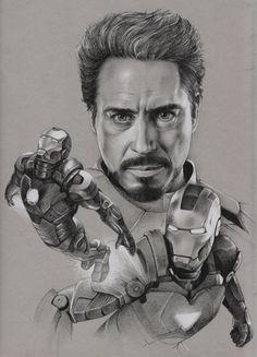 Jaime Santyr: 3D/2D Artist | Pencil Work - Iron Man