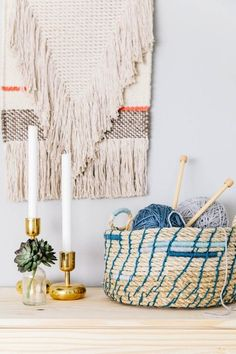 Make a rope basket to store your home accessories in with this simple DIY.