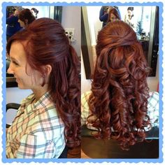 Half up half down wedding hair.