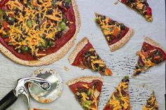 Quick, easy and delicious! This is always on rotation in my kitchen! High Protein Tortilla Pizzas