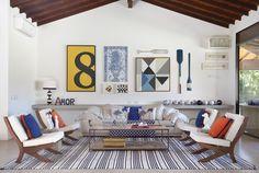 Decoração de: Sala de estar; remos decorativos; Casa de Valentina