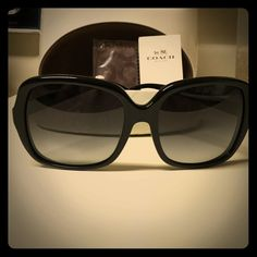 Coach Sunglasses Brand new large frame Coach sunglasses. Case and cleansing cloth included. Coach Accessories Sunglasses