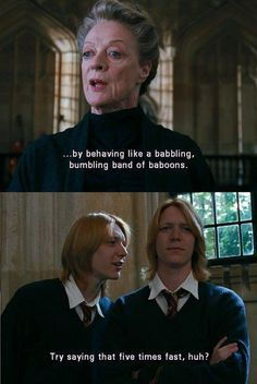 Trust the Weasley twins to put a funny spin on things
