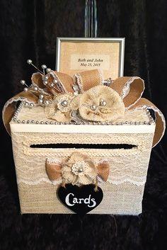27 chic rustic burlap lace wedding decor ideas wedding money boxeswedding cardswedding