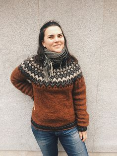Ravelry: Project Gallery for Riddari pattern by Védís Jónsdóttir for Ístex Icelandic Sweaters, Wool Sweaters, Norwegian Knitting, How To Purl Knit, Fair Isle Knitting, Sweater Design, Comfortable Outfits, Slow Fashion, Knit Patterns