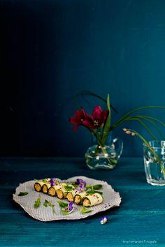 Rollitos de calabacín. receta #vegana