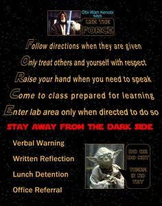 My friend made a Star Wars Classroom Rules poster - Imgur