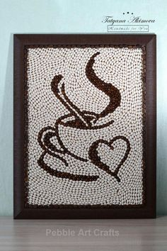 Creative Diy Ideas For Pebble Art Crafts! - Do It Yourself Samples Diy Home Crafts, Creative Crafts, Arts And Crafts, Paper Crafts, Adult Crafts, Pista Shell Crafts, Coffee Bean Art, Seed Art, Coffee Crafts