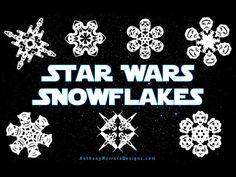 Pour Noël, reproduisez ces flocons de neige Star Wars en papier