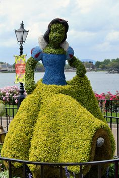 Epcot Flower and Garden Festival. I love walking through Epcot and seeing the characters made out of flowers