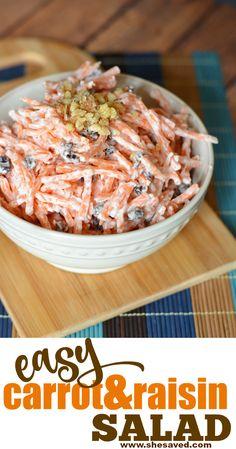 Carrot Salad Recipes, Healthy Vegetable Recipes, Slaw Recipes, Easy Salad Recipes, Chicken Salad Recipes, Fruit Recipes, Side Dish Recipes, Cooking Recipes, Pasta Salad