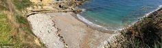 El Cuerno beach in Antromero, Asturias (Spain). Together with its sister El Sombrao are know as Las Playinas de Antromero.