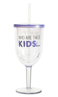 Pavilion Gift Company 18039 Acrylic Wine Tumbler, 13-Ounce, Kids ** Visit the image link more details.