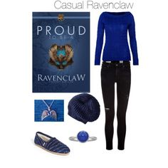 Polyvore- Casual Ravenclaw Harry Potter outfit