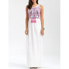 SHARE & Get it FREE | Totem Print Tassel Sleeveless Maxi Prom DressFor Fashion Lovers only:80,000+ Items·FREE SHIPPING Join Dresslily: Get YOUR $50 NOW!