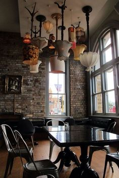 How To Brighten Your Home With Ceiling Lights – diy Interior design Deco Restaurant, Restaurant Design, Restaurant Names, Restaurant Lighting, Cafe Design, House Design, Ceiling Fixtures, Ceiling Lights, Light Fixtures