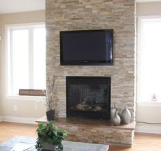Image result for hearth light stacked stone