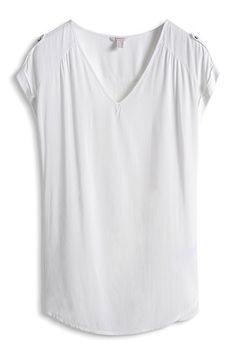Soepele, lange blouse met V-hals