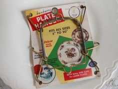Plate Hanger on Original Card Vintage by  QuiltedNest