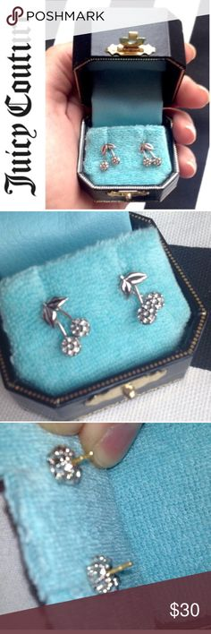 🎁Juicy Cherry Earrings New in box. Silver. The cherries move. Juicy Couture Jewelry Earrings