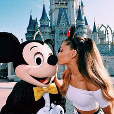 Ariana Grande and Mickey Mouse