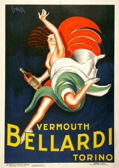 VERMOUTH BELLARDI RARE ORIGINAL VINTAGE POSTER BY LEONETTO CAPPIELLO