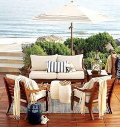 Beach Deck. Gorgeous outdoor living space