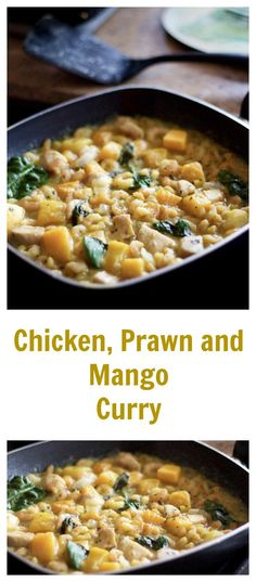 Chicken, Prawn and Mango Curry: Introduce the family to curry with this mild and flavoursome dish.