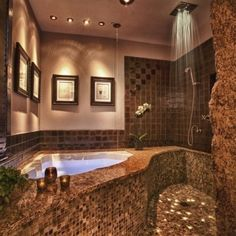 Indoor saltwater Jacuzzi?  LOVE it... 8]