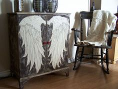The Angel Wing Cubby creation by Gypsy Barn