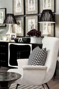 Living areas white home decor, black decor, white decor. Black White Rooms, Black And White Interior, White Space, White Home Decor, Black Decor, Home Interior, Interior Design, Modern Interior, Scandinavian Interior