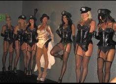 Burlesque themed bachelorette party. Minus the cop hats! lol