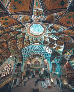 Kashan Iran Pictures, Geometric Flower, Iranian Art, Loft Design, Sacred Art, Art And Architecture, Islamic Architecture, Exterior Design, Art History