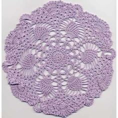 Pineapple Fantasy doily, free pattern by Patty's Filet and Crocheting Page