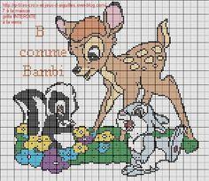 Voici la grille B comme Bambi pour l'abécédaire Disney.                                                                                                                                                                                 Plus