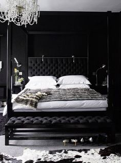 Dark & Dramatic Rooms Where White is the Pop of Color | Apartment Therapy