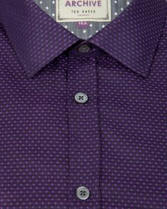 NARDOG | Circle jacquard shirt - Purple | Shirts | Ted Baker