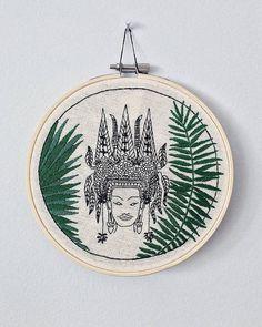 Angkor Art Hoop - EmbroideredArtCA