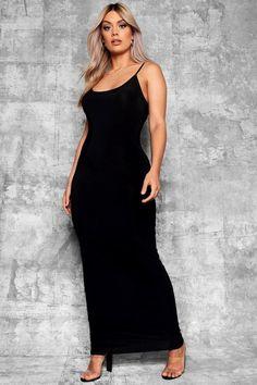 64f87c12ea4a1 Plus Slinky Strappy Maxi Dress - boohoo maxi dress, summer dress, casual  dress Plus